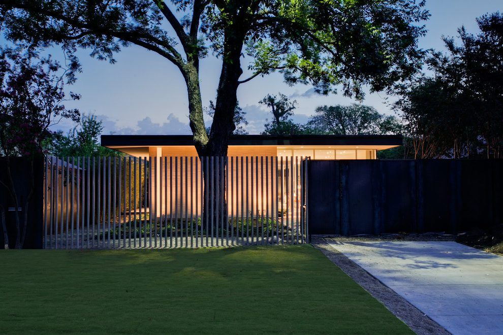 Modern Asian Fence Design Exterior Modern With Low Profile Vertical Fence  Outdoor Lighting