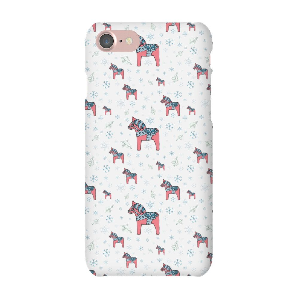 Christmas Pony Phone case White iPhone 7 Snap Case Gloss   Phone ...