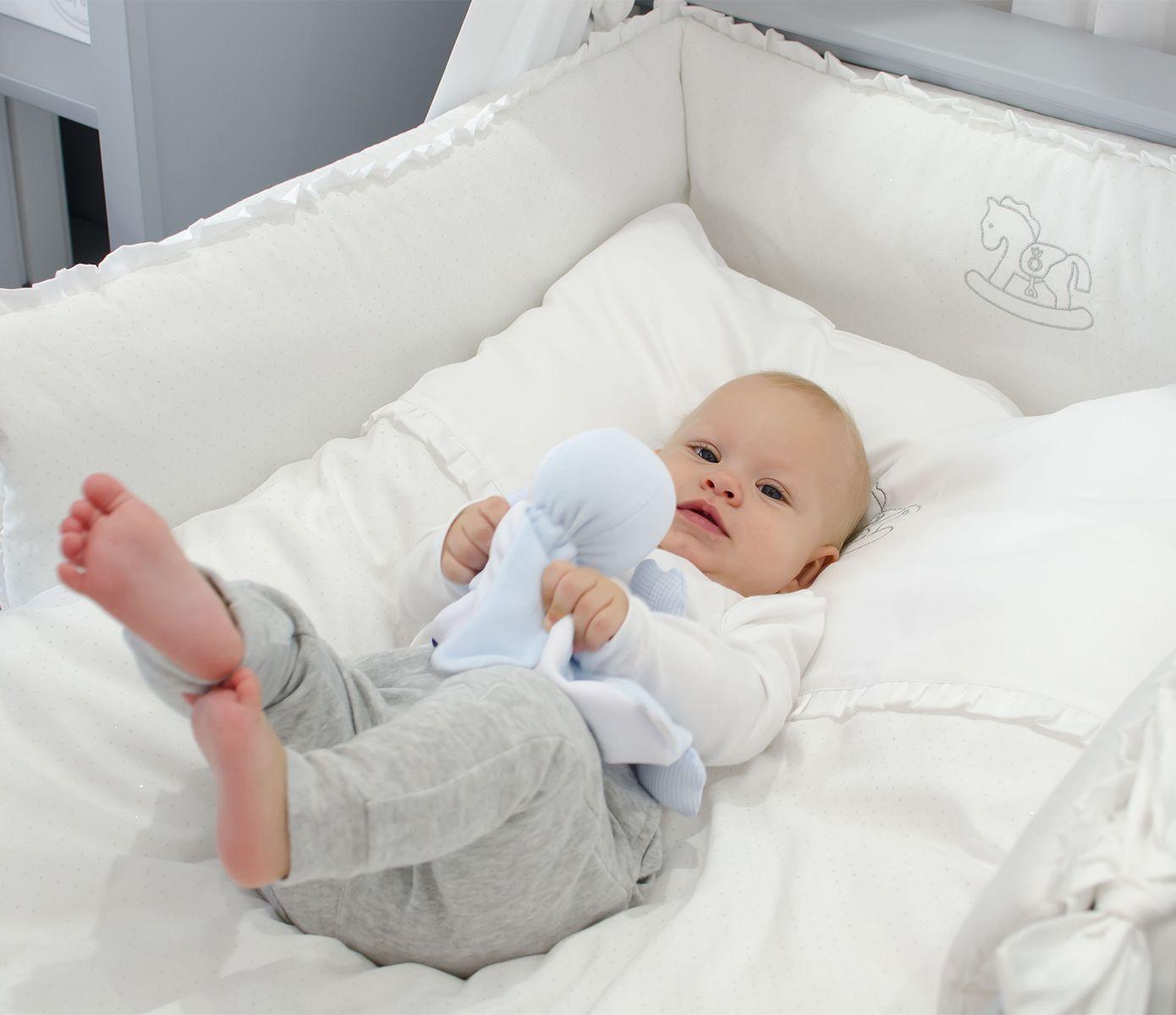 Elegant White Baby Bedding Silver Bright Meble Dla Dzieci Meble