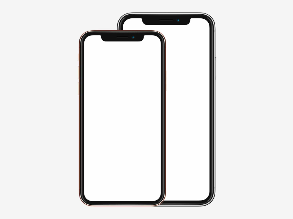Big And Small Iphone Xs And Xs Max Mockups The Mockup Club Mockup Design Mockup Free Mockup Design