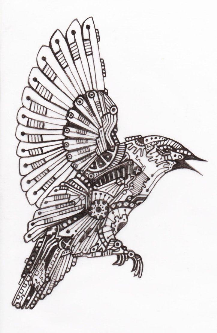 Mechanical Bird 3 by ~VengeanceKitty on deviantART | coloring ...