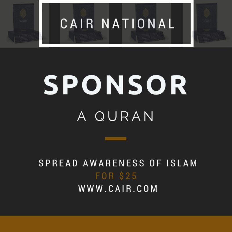 Sponsor a Quran today with CAIR: http://bit.ly/SponsorAQuran   #Ramadan