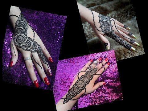 Mehndi For Diwali : Easy mehndi designs for hands tutorial circular strip new henna