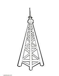 Antena Torreta Antenas Dibujos Torreta