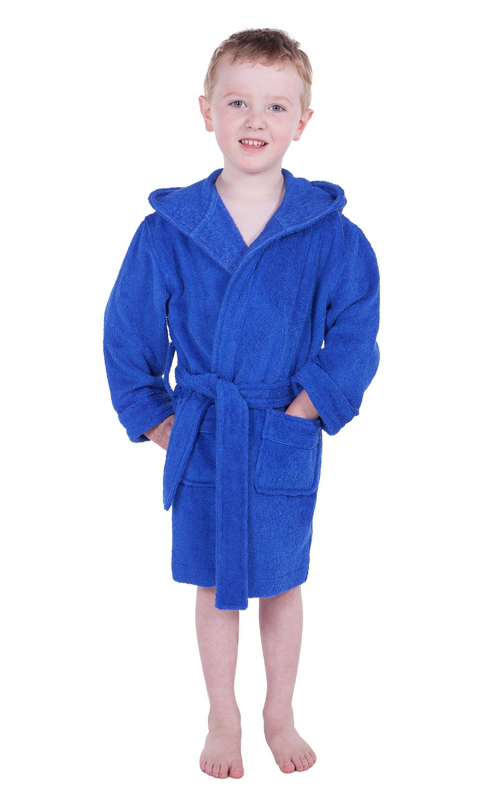 Rub-A-Dub Kids Hooded Terry Cloth Bathrobe Cozy Robe by for Kids Texere