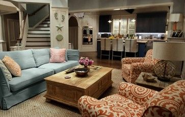 Grace and Frankie beach house living room. I want to live here.