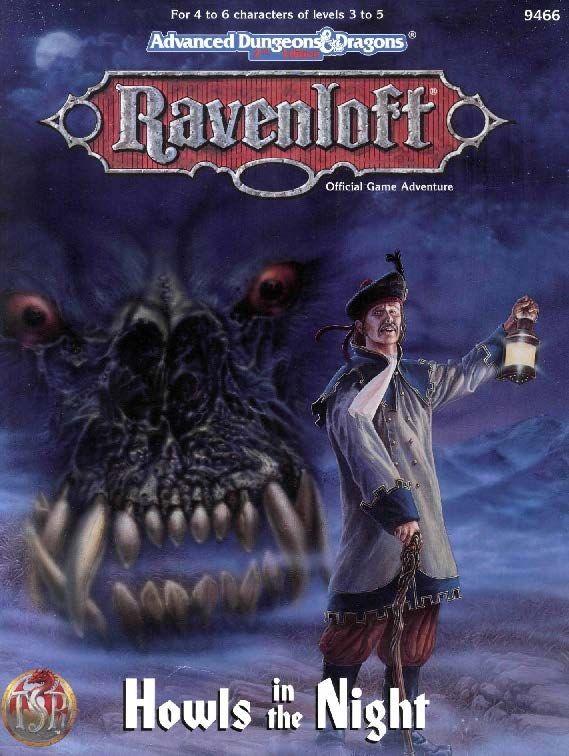 Howls In The Night 2e Ravenloft Book Cover And Interior Art