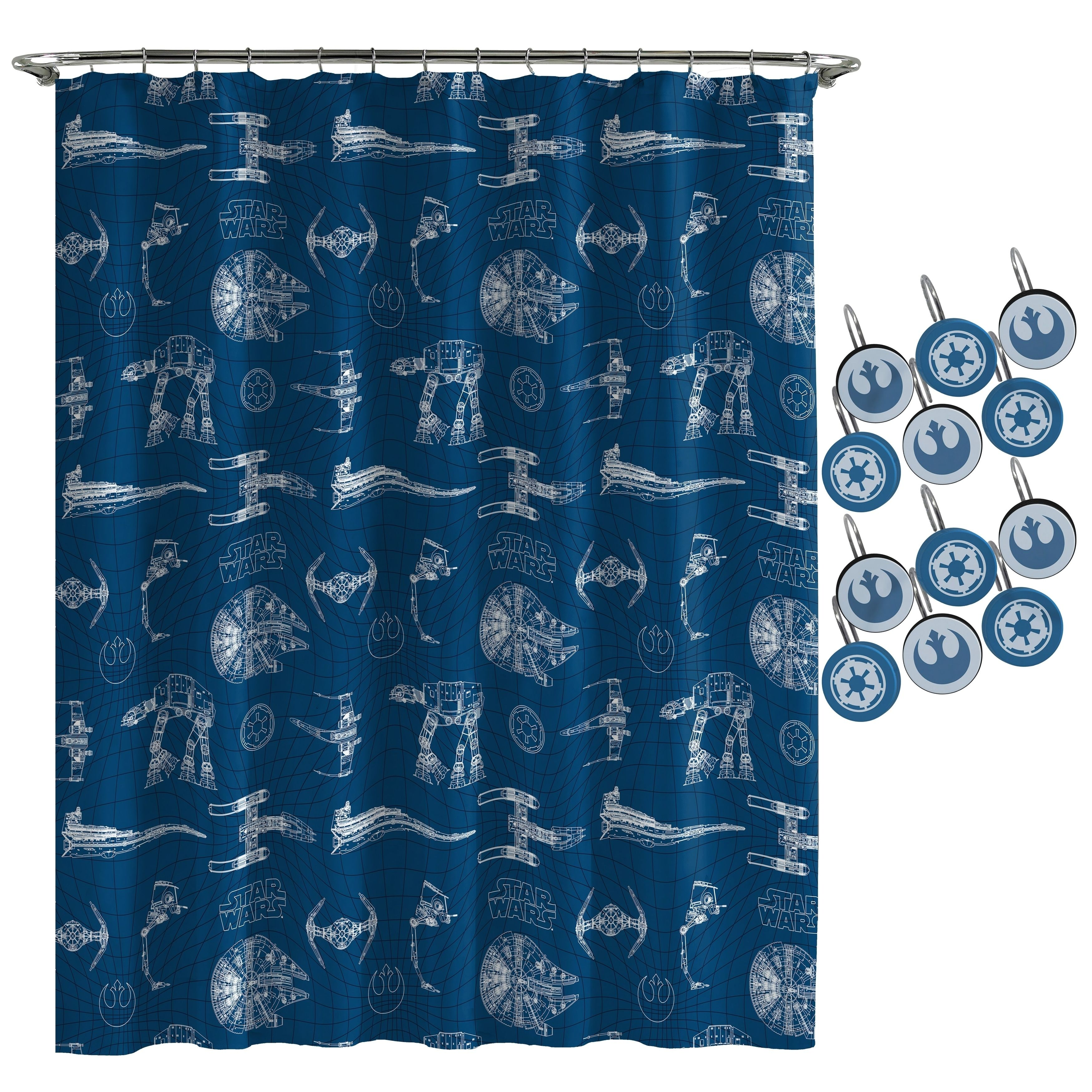 Star Wars Vehicles Shower Curtain And Hooks With Images Star