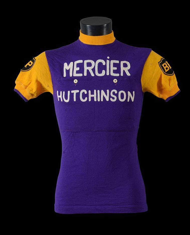 1964 MERCIER HUTCHINSON Cycling Jersey Retro Road Pro Bike MTB Short Sleeve
