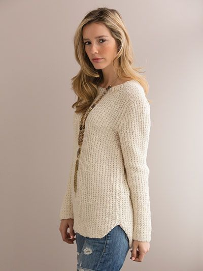 bcc2fa4fb8e919 Vivacious Hi-Lo Pullover Knit Pattern from Annie s Craft Store. Order here   https