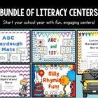 This bundle includes five of my favorite literacy centers for back to school! Included in this bundle are:  Alphabet play dough mats ABC's and 123'...