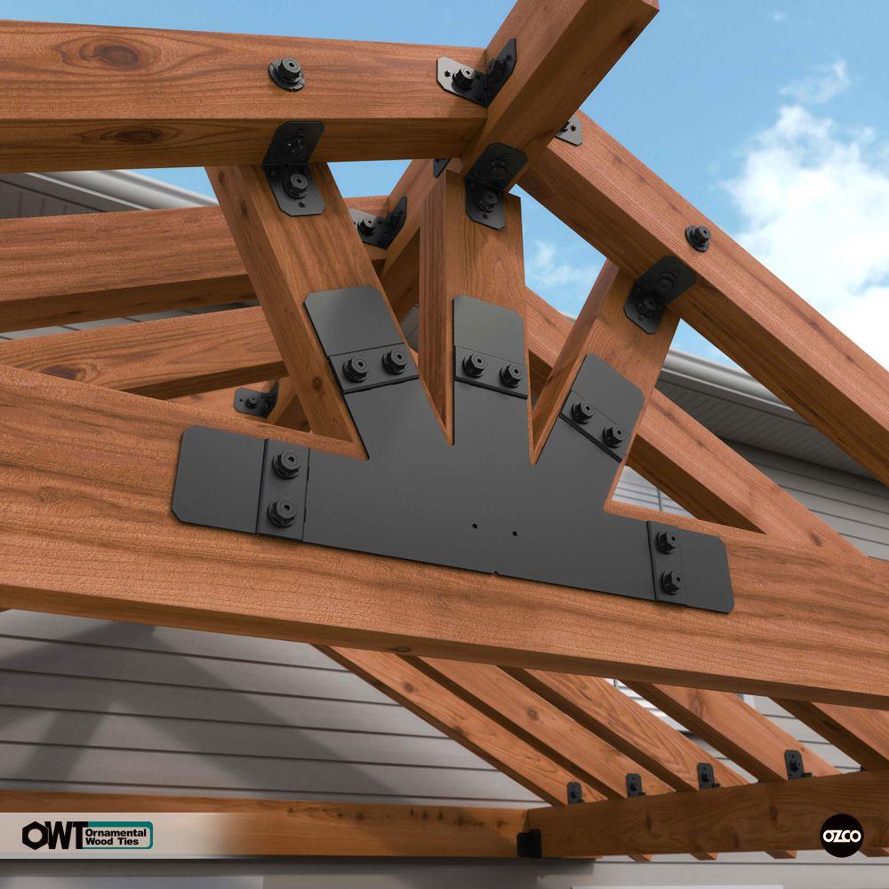 Truss Base Fan 6 12 Plate In 2019 Pergola With Roof