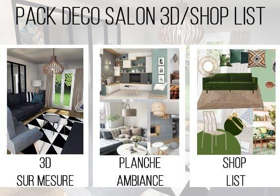 Salon 3d shop list sur mesure pour changer votre intérieur salon 3d diy maison et amenagement salon
