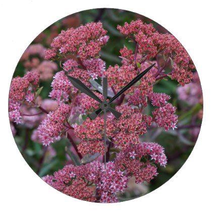 Autumn Sedum Large Clock - autumn gifts templates diy customize