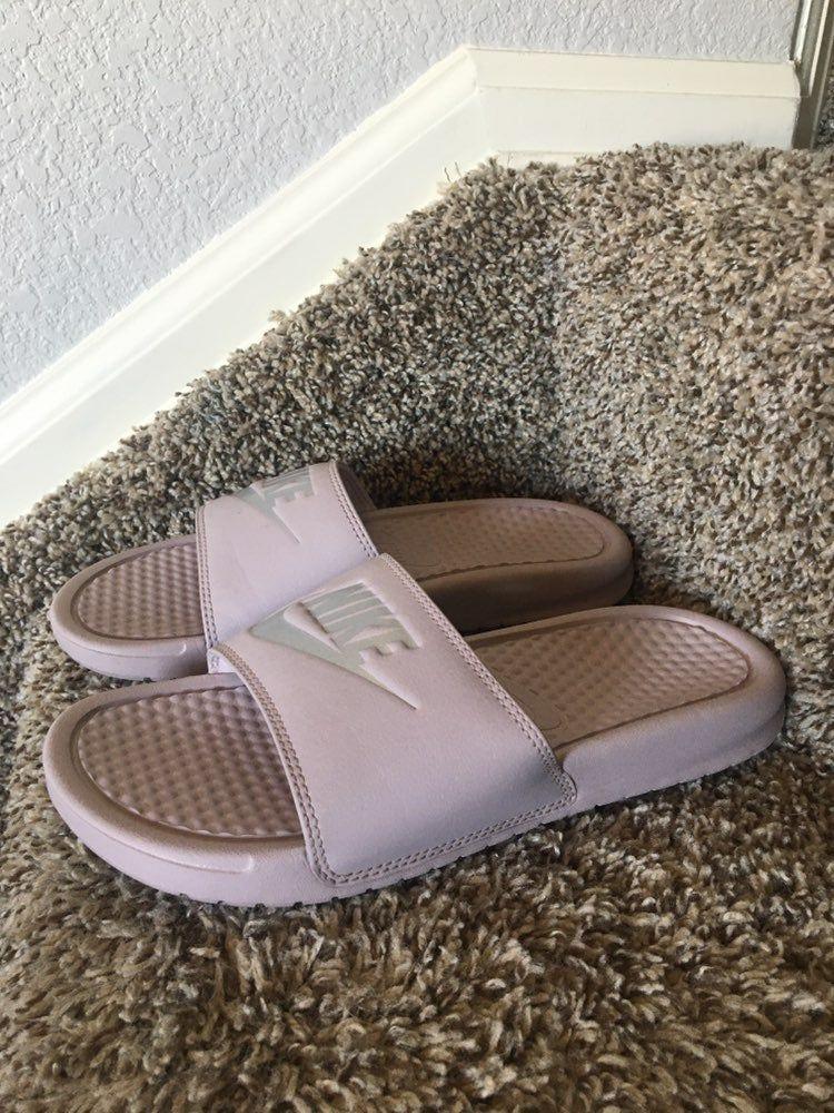 Blush pink Nike Slip on. Size 7. Never