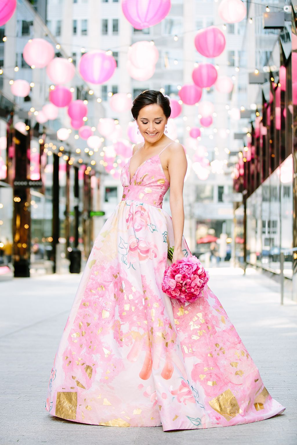 A Pink Gown Arcade Games And Fried Chicken Make This DC Wedding So Much Fun