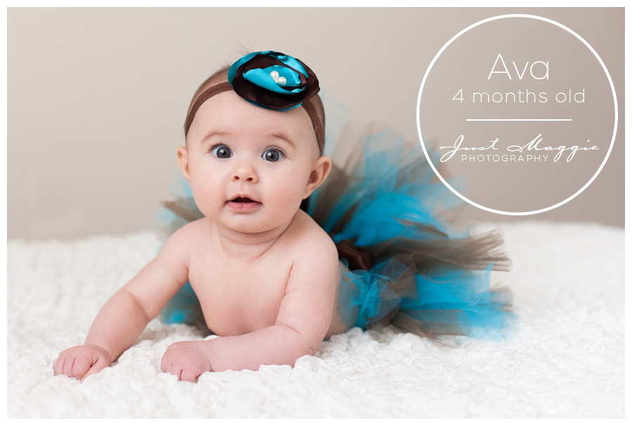 Avas 4 month portraits in the studio babys first year