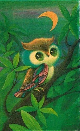 Vintage Halloween Card By Buzza Cardozo Or An Owl Tattoo