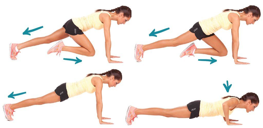 Image result for Tricep Push Up With Mountain Climber