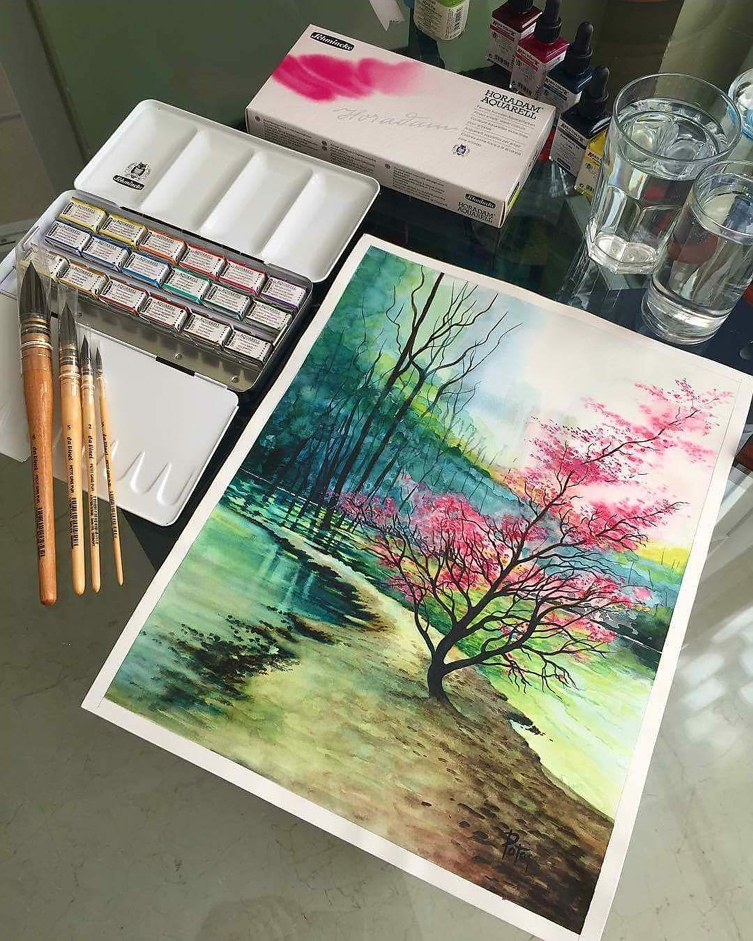 Watercolor Paintings With Images Artwork Painting Colorful
