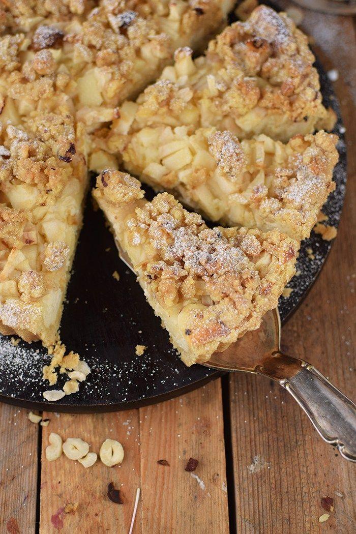 Apfel Streusel Kuchen - Apple Crumble Cake #applerecipes