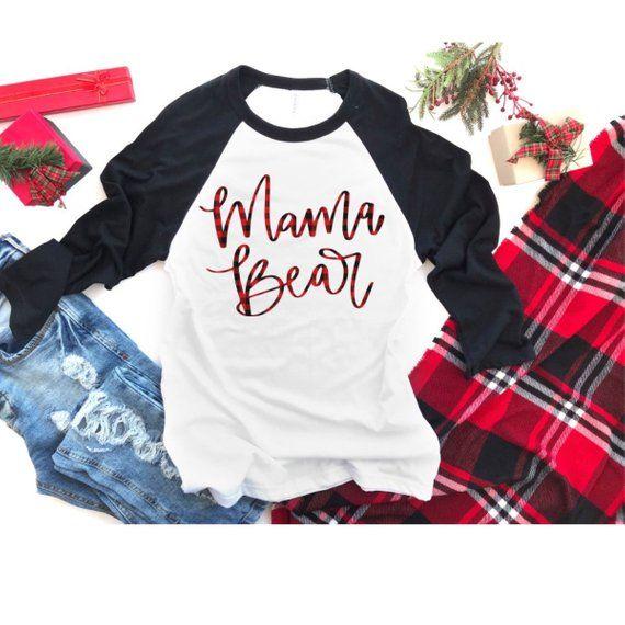 c02d0858 Mama Bear, Mama Bear Shirt, Buffalo Plaid Shirt, Mom Gift, Gift for Mom,  Gift for her, Mom Shirt, Gi