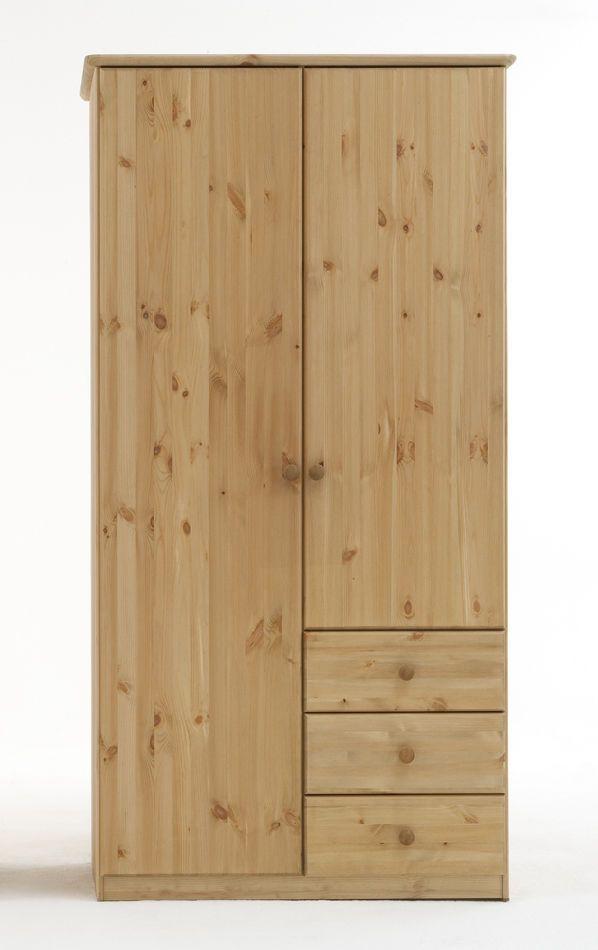 kleiderschrank jonas kiefer massiv 2 t rig in 4 farben lieferbar kleiderschrank mit farbe. Black Bedroom Furniture Sets. Home Design Ideas