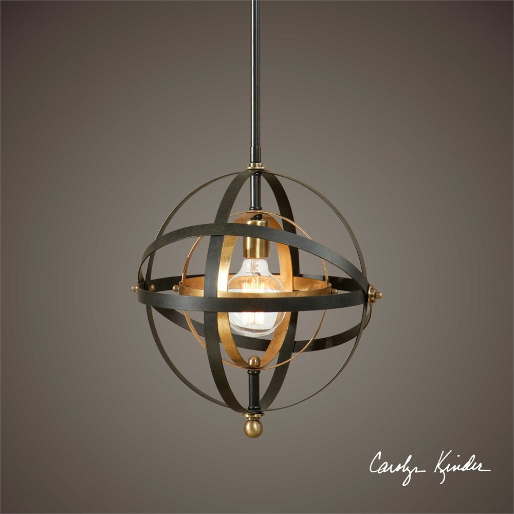 Uttermost Rondure 1 Light Sphere Mini Pendant | Pendant