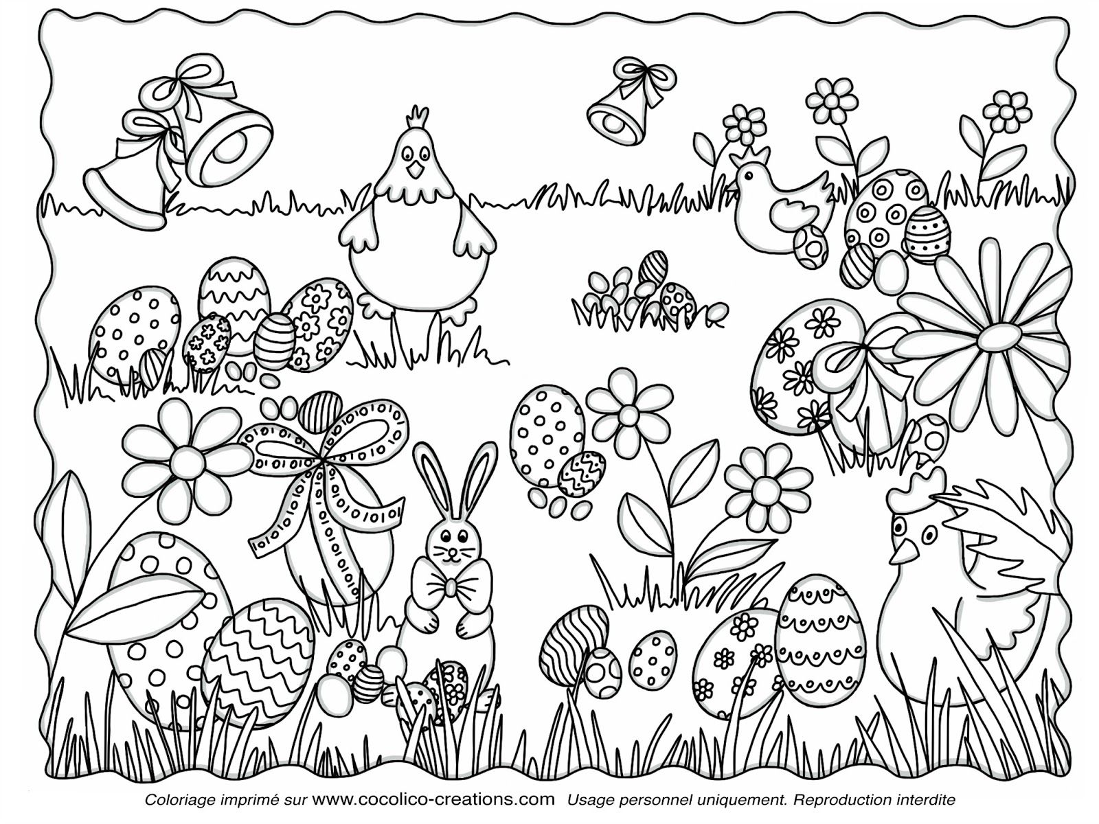 coloriage de paques imprimer gratuit les coloriages de p ques poule lapin et oeufs de. Black Bedroom Furniture Sets. Home Design Ideas