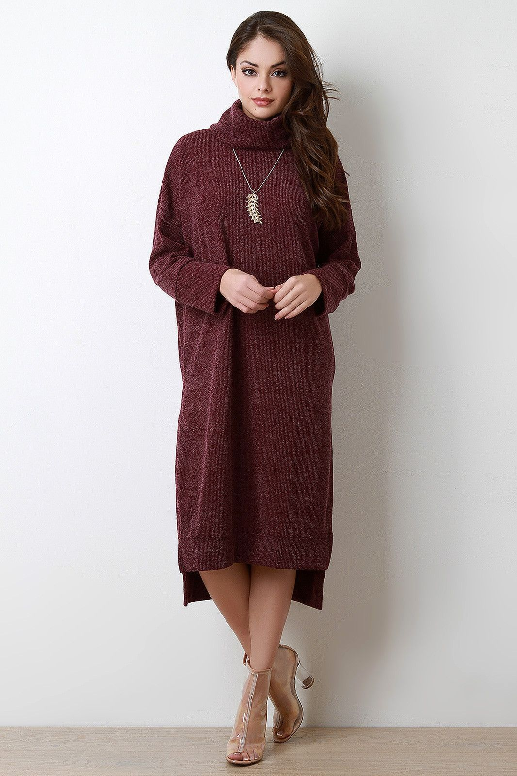 Cozy Cowl Neck Sweater Dress Cozy Cowl Neck Sweater Dress | Cowl ...