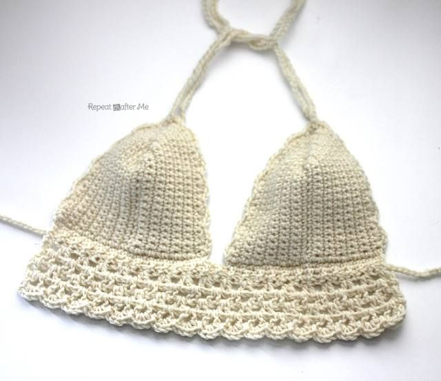 Hot and FREE crochet bikini top pattern from Repeat Crafter Me! http ...
