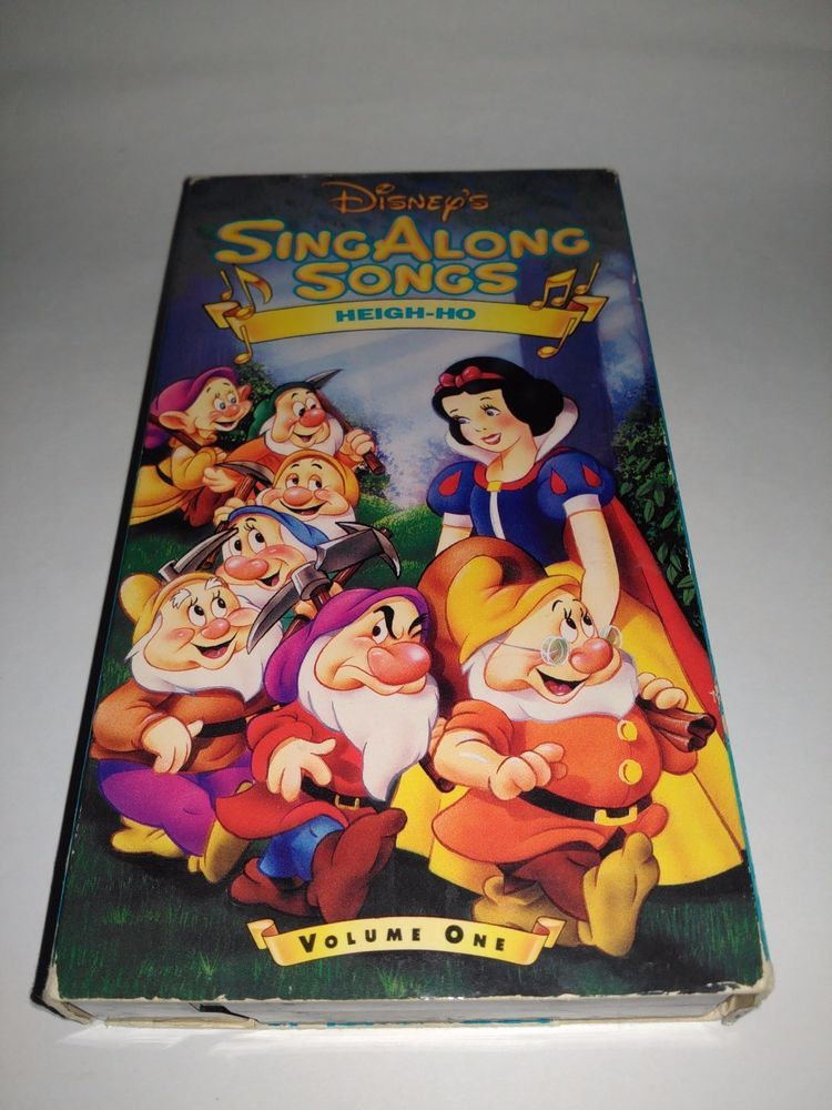 Disneys Sing Along Songs Snow White Heigh Ho Vhs 1994 Cartoon Vcr Tape Sing Along Songs Songs Vintage Cartoon