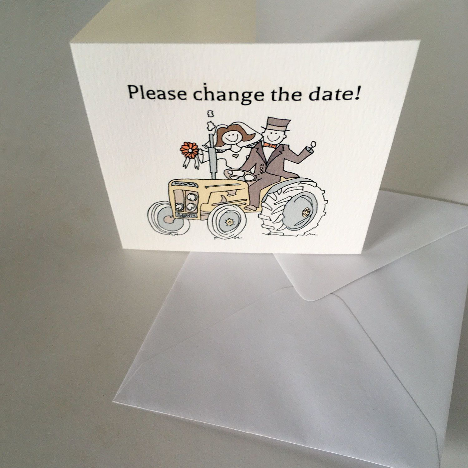Change save the date 10 x small cards with personalised