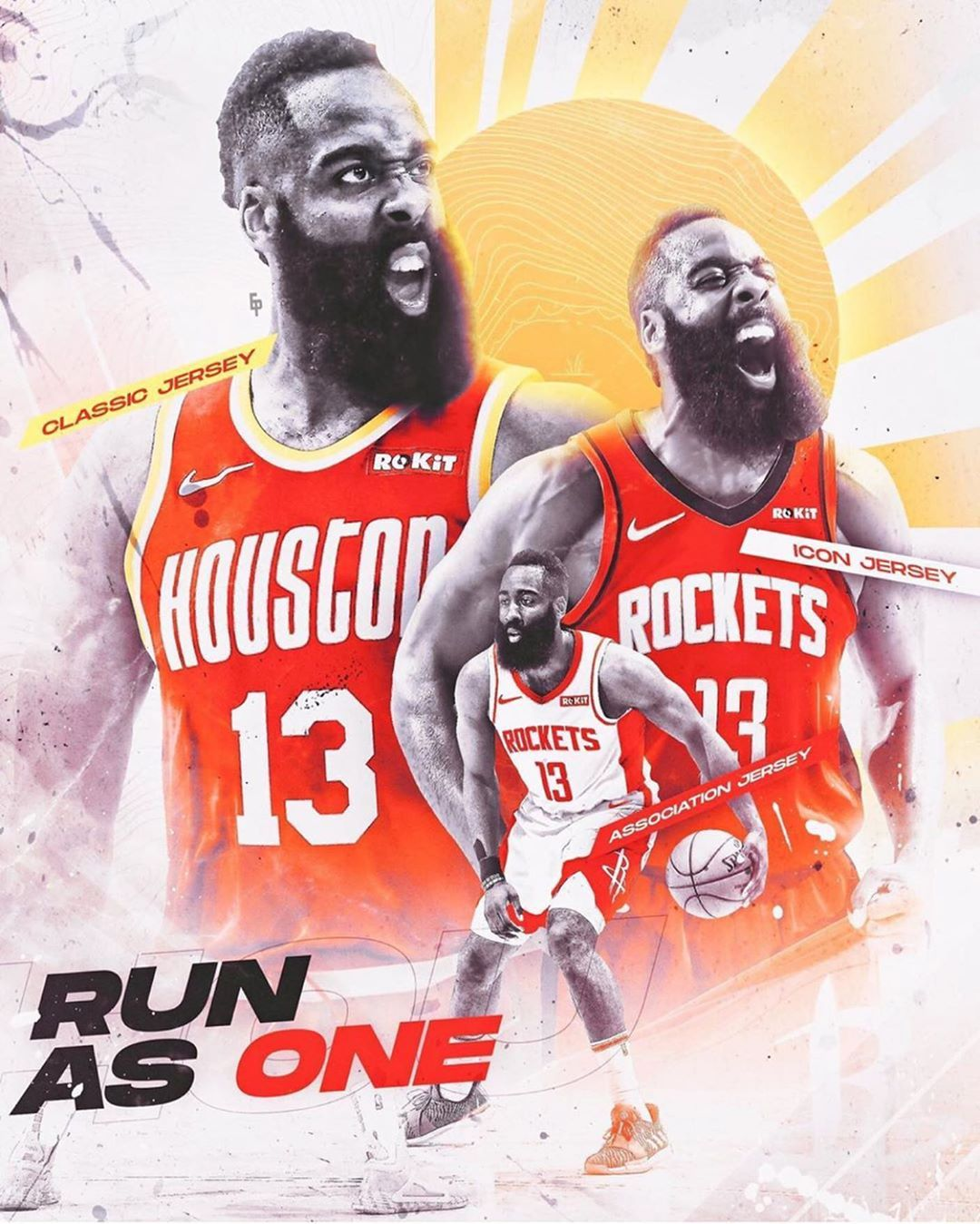 Image may contain one or more people Houston rockets