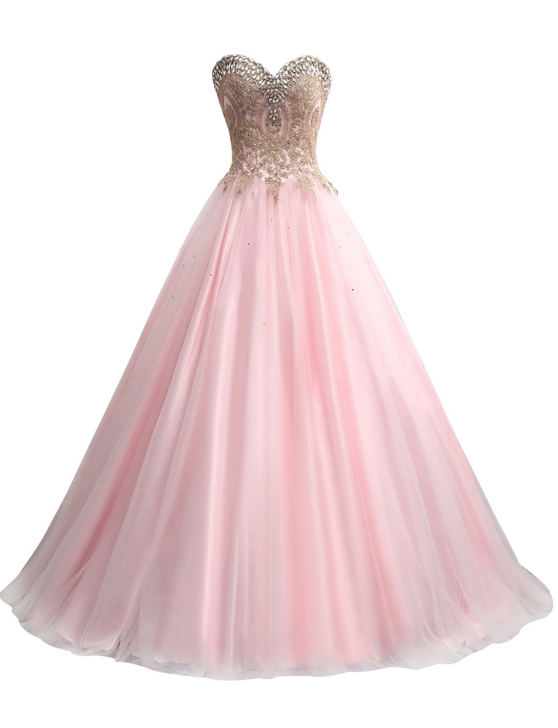 Erosebridal Gold Embroidery Ball Gown Quinceanera Dresses Sweet 15 ...