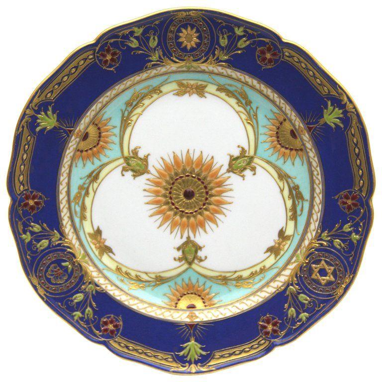 Kpm Porcelain Porcelain Kpm Berlin Plate Rich Gold Enamel Painting German Porcelain Vintage Porcelain Porcelain Enamel Paint