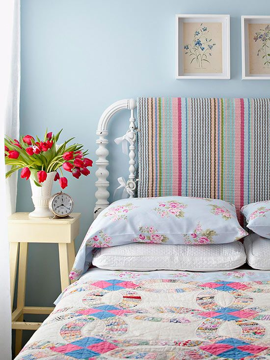 Adding colorful accents to a bedroom make it the perfect place to relax: http://www.bhg.com/decorating/do-it-yourself/diy-color/?socsrc=bhgpin011814headoftheclass&page=15