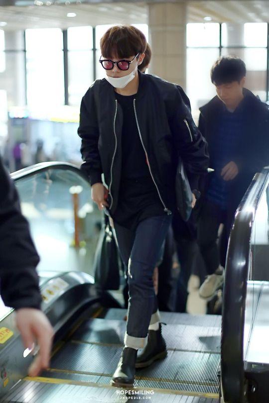 [AIRPORT] 160321: BTS J-Hope (Jung Hoseok) #bts #bangtan #bangtanboys #fashion #style #kfashion #kstyle #korean #kpop