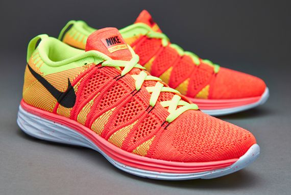 ... gold; mens nike flyknit lunar 2 orange yellow ...