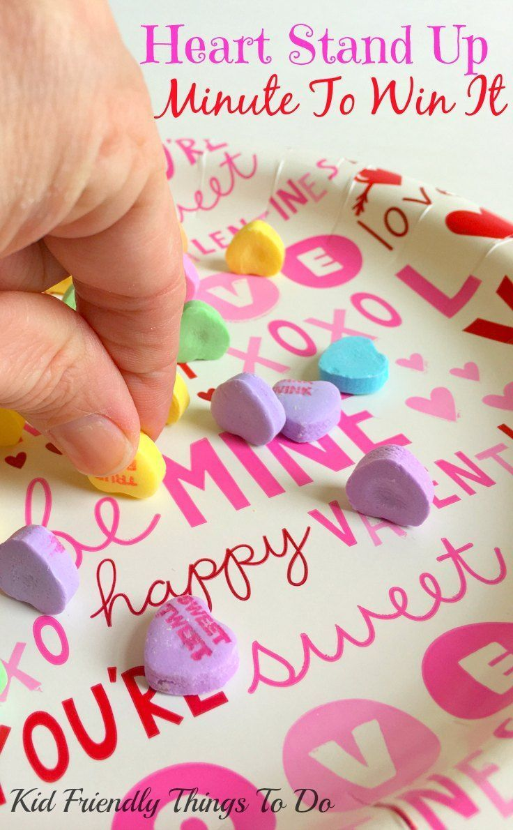 our minute to win it valentines day party games httpkidfriendlythingstodo