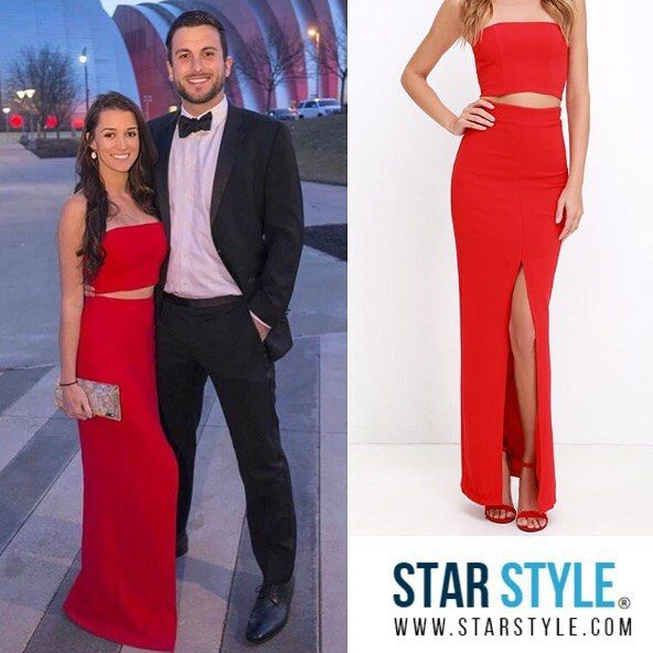 Jade Tolbert wore a Lulus Better Than a Sequel Red Two Piece