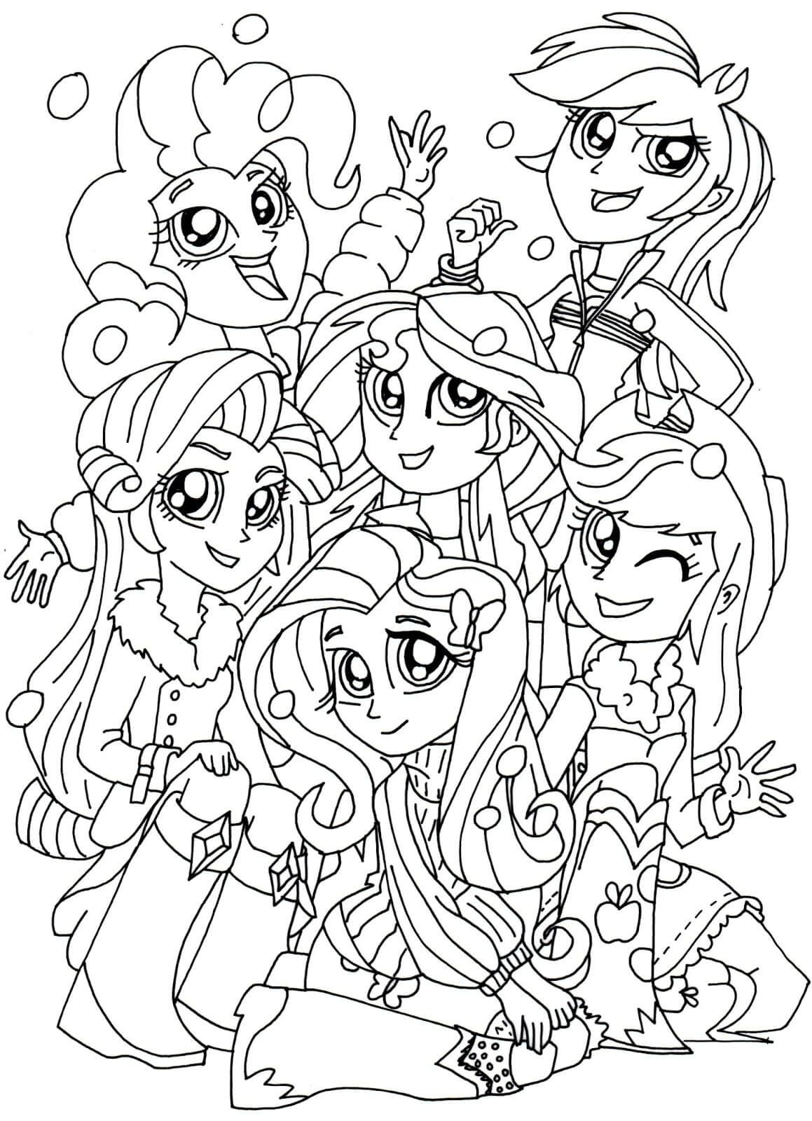 Ausmalbilder Kostenlos My Little Pony : My Little Pony Equestria Girls Coloring Pages Equestria Girls