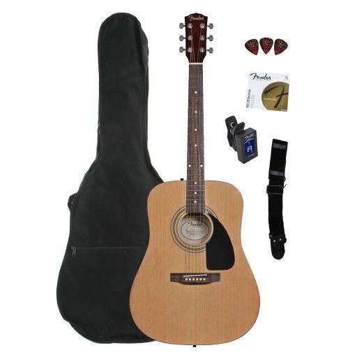 Fender Fa 100 Acoustic Guitar Bundle With Gig Bag Natural Acoustic Guitar For Sale Acoustic Guitar Guitar