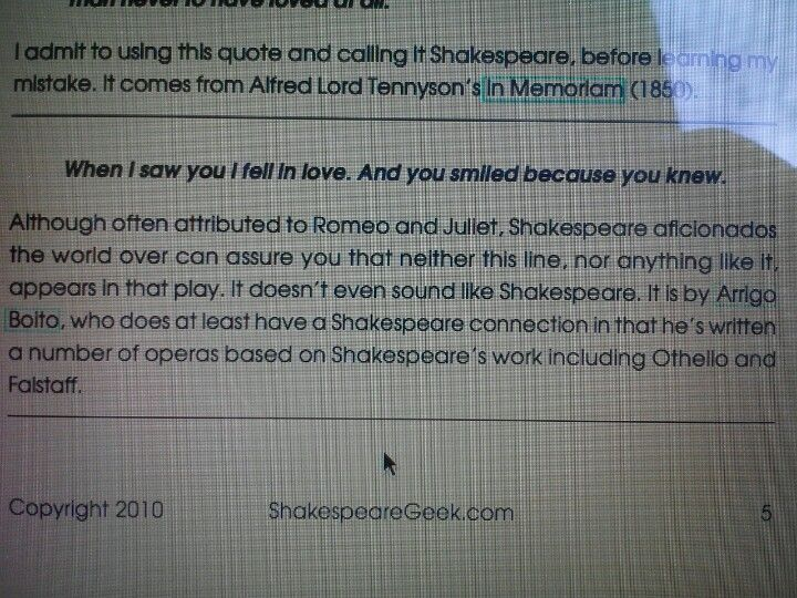 Stop pinning this! It aggravates English majors very much.  It is not not not Shakespeare.