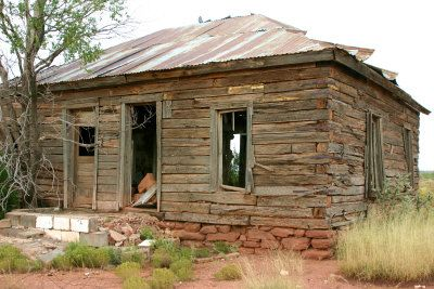 Old Western Log Cabin In New Mexico All Things Retro In