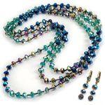 Peacock Glass Beads