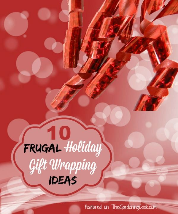 There is no need to spend a lot of money to wrap your gifts. My holiday gift wrapping guide is full of frugal ideas to save money. http://thegardeningcook.com/frugal-holiday-gift-wrapping/