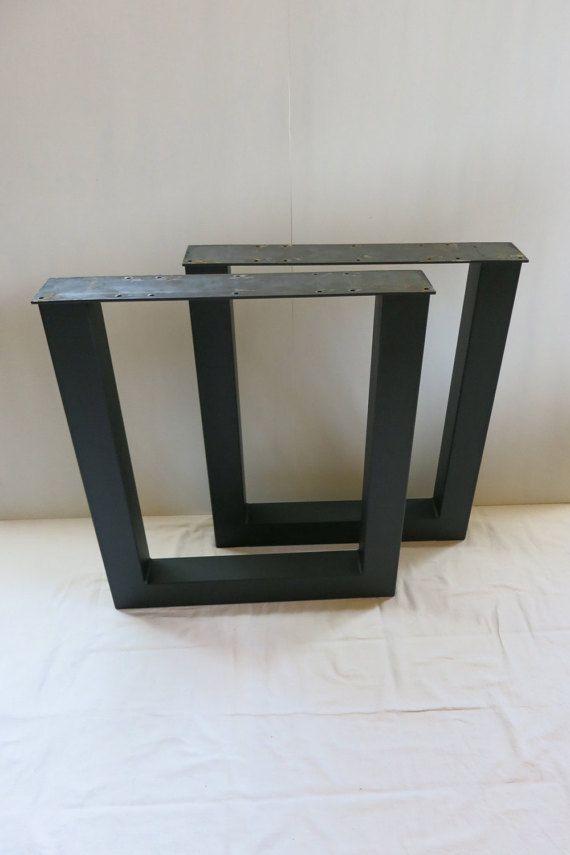 3x3 U Shape Table Legs Set Of 2 Metal Table Base Table Legs