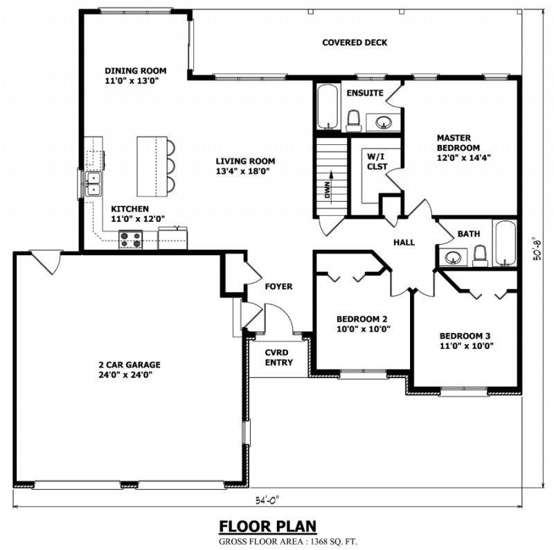 Custom House Plans Stock House Plans Garage Plans Bungalow House Plans House Plan Gallery Bungalow House Floor Plans Open concept house plans canada