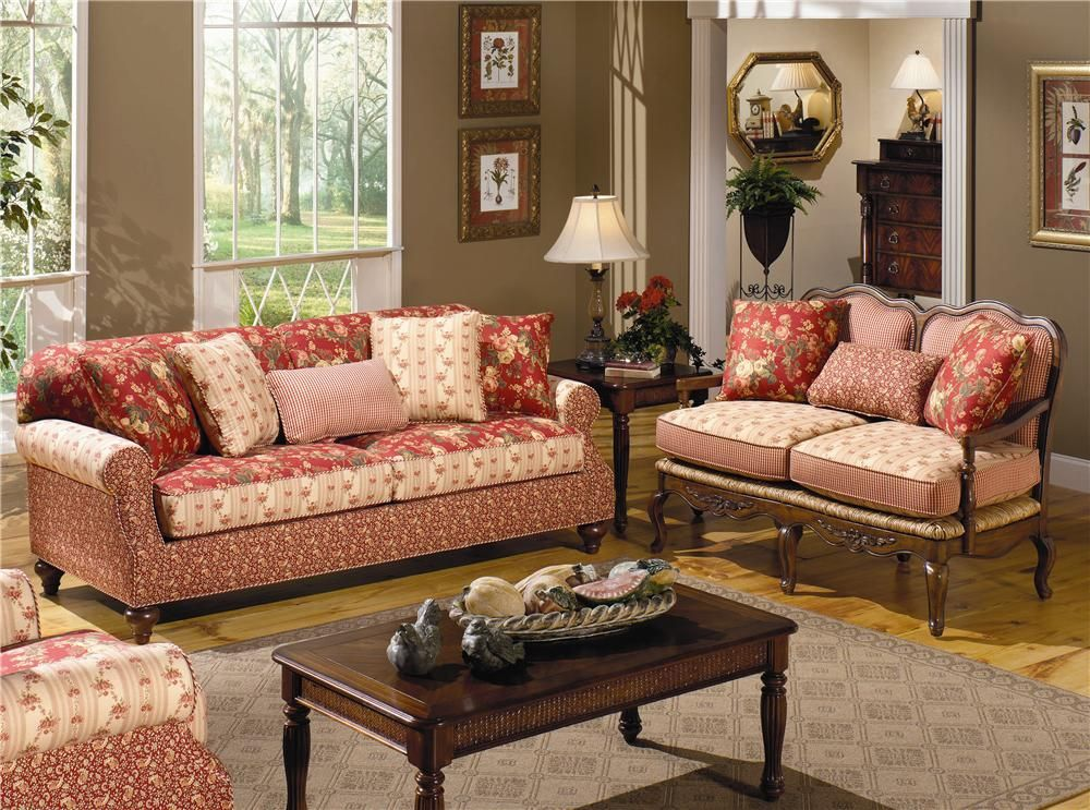 Exactly What I Want Wall Color And All For Our Den Cottage Sofa Furniture Living Room Red